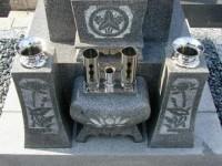 墓石の花立て工事後