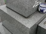 墓石総合リフォーム工事前 磨きハゲ