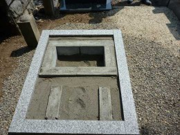 ブロックの納骨室