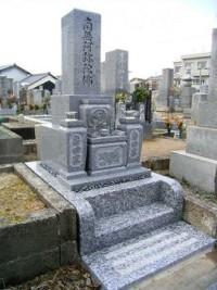 観台寺墓地での施工事例