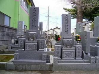 8寸3段型墓石と8寸2段型墓石の比較