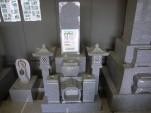 複雑な加工の墓石