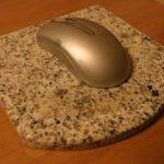 御影石のマウスパッド