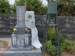 墓石の現場戒名彫り