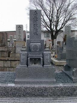 8寸3段型デラックスタイプ墓石