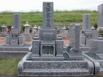 8寸2段型デラックスタイプ墓石<br />