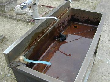 井戸水の錆び