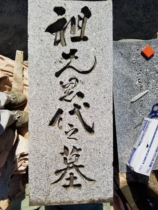 古いお墓の文字