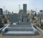 笠松門間墓地で大島石お墓石建立