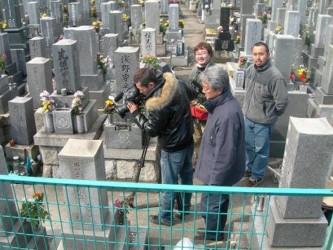お墓の撤去に関してのテレビ取材