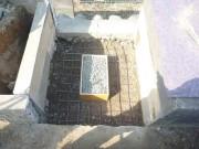 鉄筋をひいてからコンクリートを打ちます