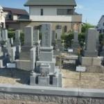 愛知県安城市野池墓地で庵治石のお墓建立