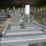 山県市大本寺墓地で唐原石のお墓建立しました