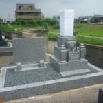 岐阜市川東墓地で庵治石のお墓を建立しました