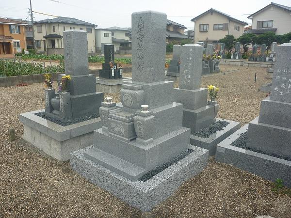 九寸三段型墓石
