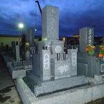 大垣市池尻墓地で純国産墓石 天山石のお墓建立しました