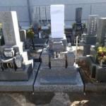 笠松町営墓地で純国産墓石天山石のお墓建立しました