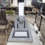 岐阜市上尻毛墓地でお墓の建て替え工事完成