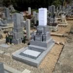 岐阜市市営上加納墓地ね地区でお墓建立しました