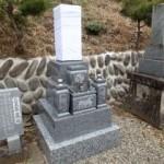 岐阜市市営上加納墓地れ地区で純国産墓石天山石のお墓建立しました