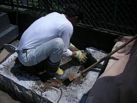 ケンチ石を回収