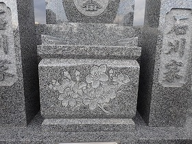 桜の立体彫り
