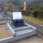 デザイン墓石建立