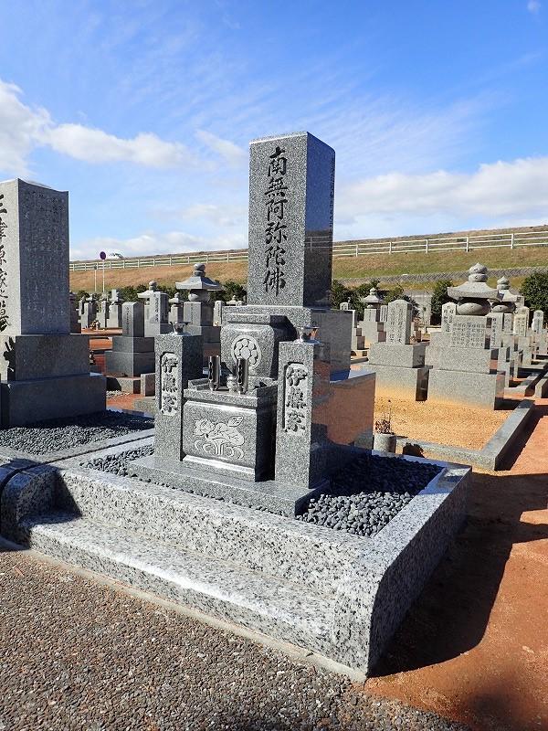 純国産墓石天山石のお墓完成