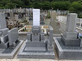 国産墓石唐原石のお墓建立