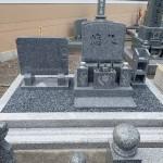 純国産墓石天山石のデザイン墓石完成