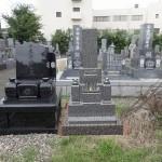 八寸三段型墓石と外柵基礎石