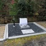 シンプルデザイン墓石完成