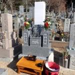 上加納墓地で納骨のお手伝い