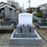 純国産墓石唐原石のデザイン墓石建立