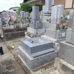 お墓の四ツ石工事