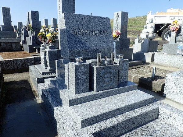 純国産墓石大島石のデザインお墓建立2