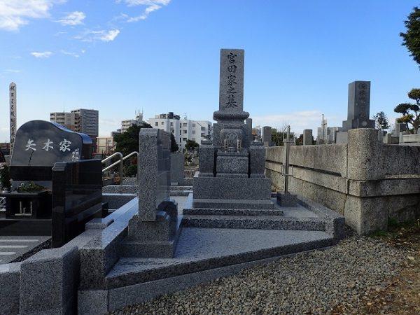 純国産墓石庵治石のお墓建立