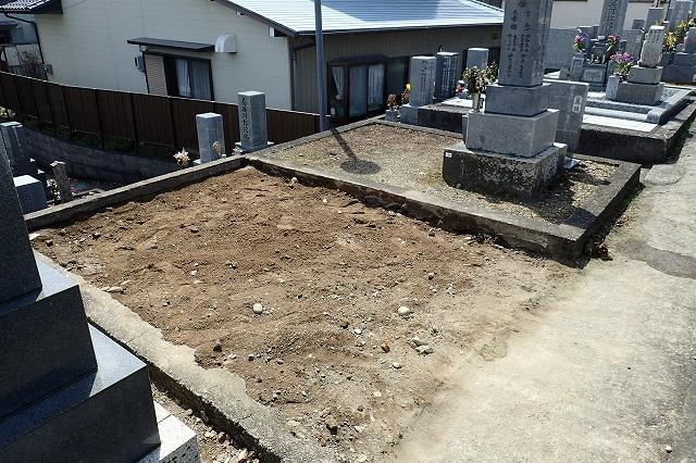 お墓の撤去工事完了