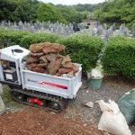 コンクリート・土・石に文別して回収
