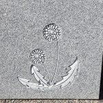 タンポポの試し彫り