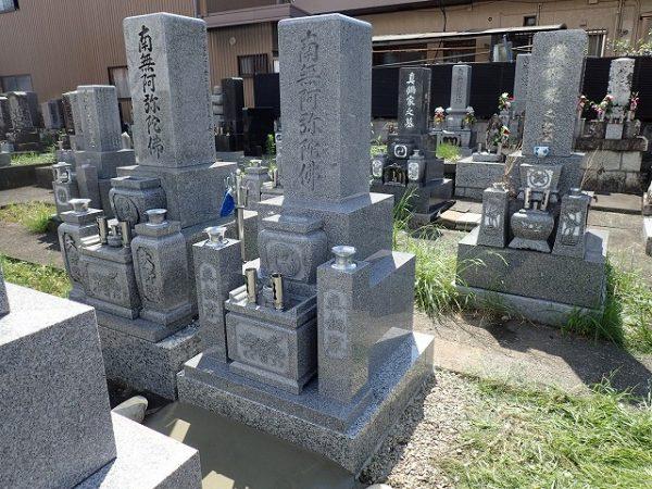 二段型のお墓の完成