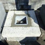石マスを組んで、周りをコンクリートで固めました