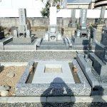 岡崎産の足助御影の外柵基礎石と御影石納骨室工事の完了