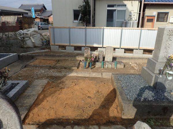お墓の解体回収完了2