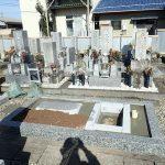 御影石納骨室と墓誌の補強石工事完了