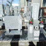 純国産墓石庵治中目石の墓誌建立