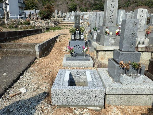 岡崎産の足助御影の外柵基礎石