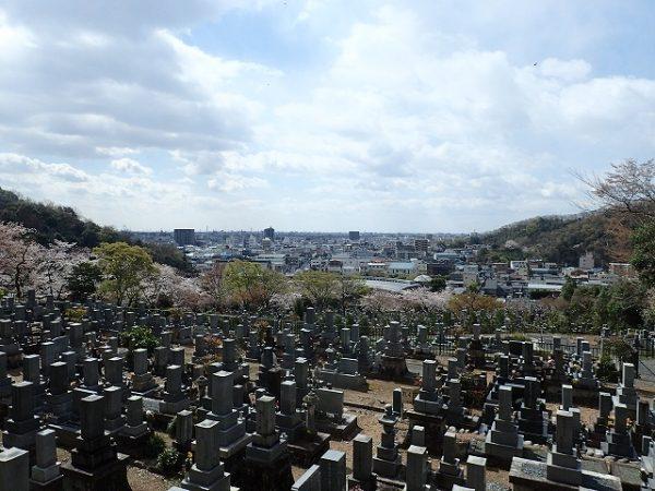 景色の良い墓所