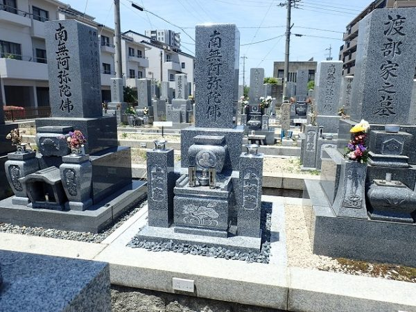 純国産墓石天山石のお墓建立