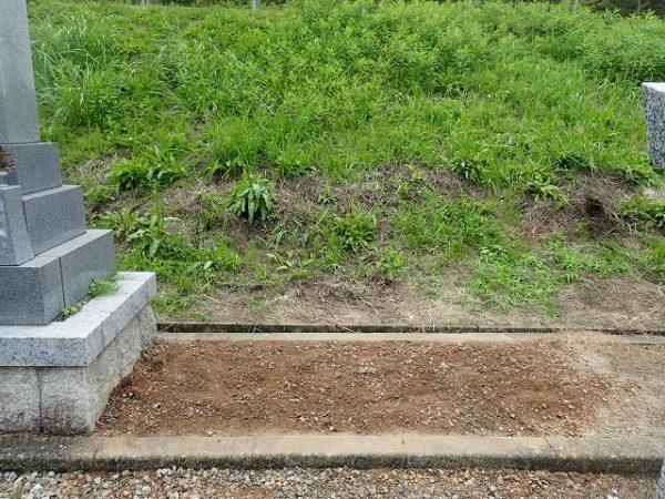 お墓の回収撤去完了